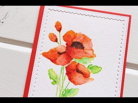 MFTv No Line watercoloring with Kimberly Crawford - You Tube  #mftstamps