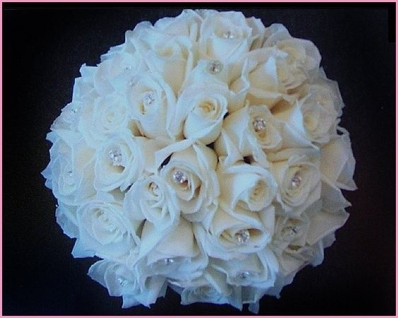 rhinestone bridal bouquets | All White Bridal Bouquet With Rhinestones Share