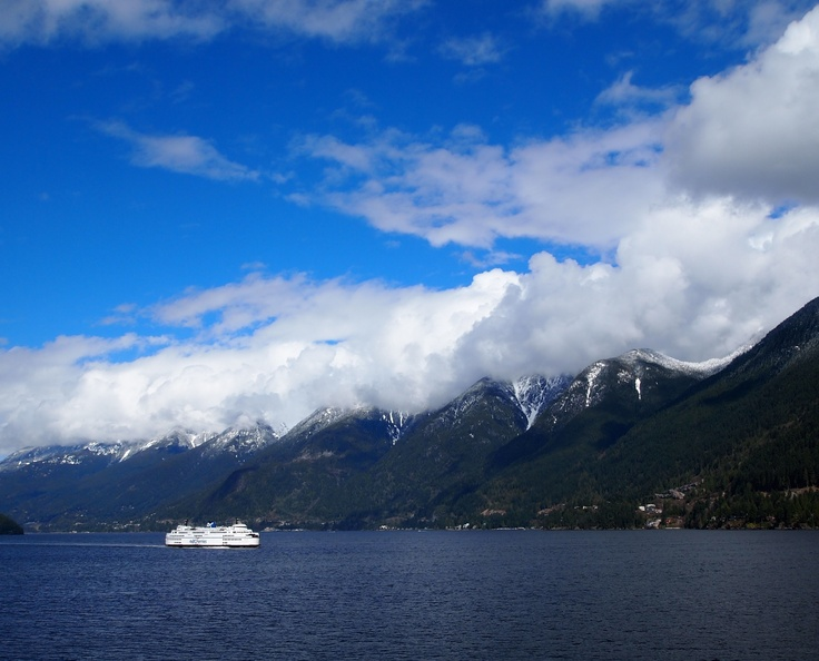 The ferry ride from Horseshoe Bay, BC to Nanaimo, BC!