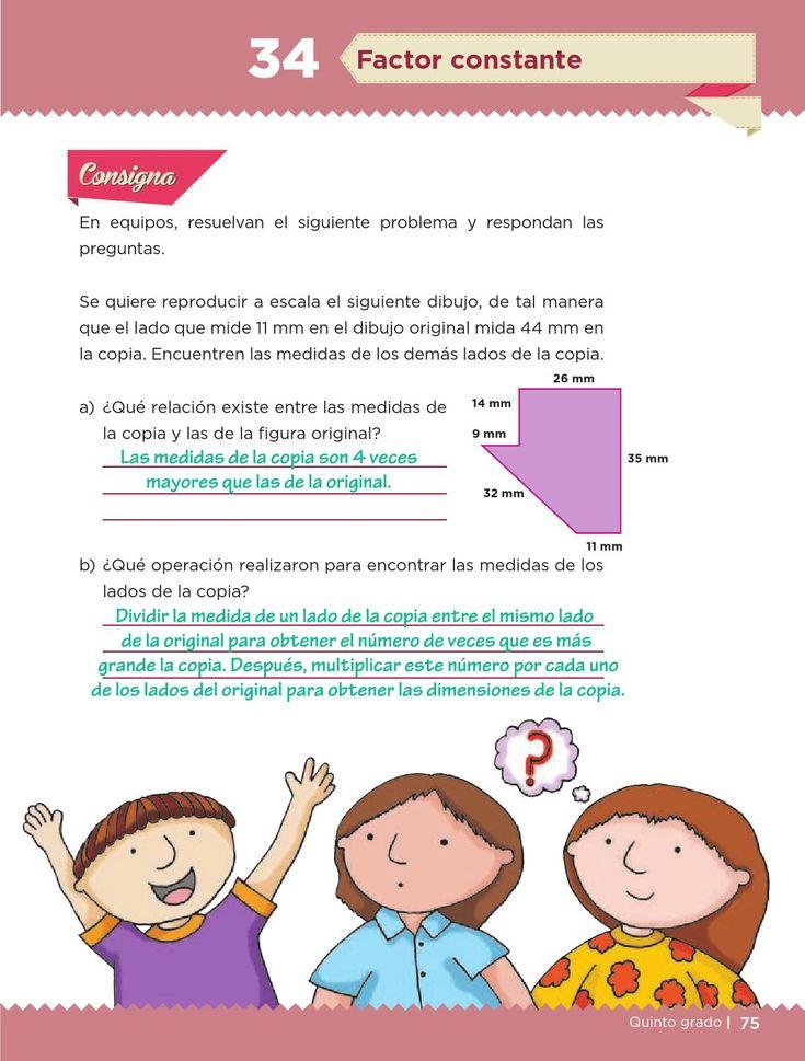 Ayuda para tu tarea de Quinto Desafíos matemáticos Bloque 2 Factor constante