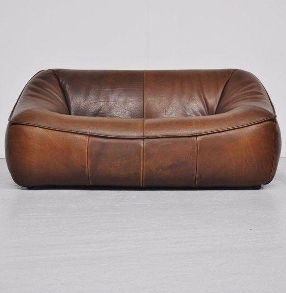 Gerard Van Den Berg; Leather 'Ringo' Sofa for Montis, 1970s. | japanesetrash.com