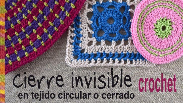 Cierre invisible en tejido a crochet circular o cerrado / Tejiendo Perú