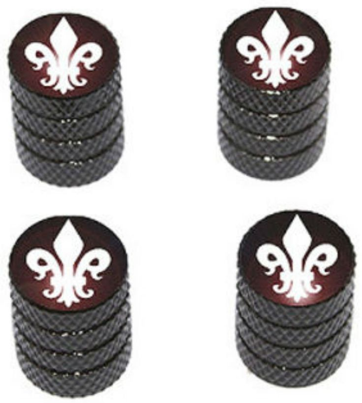 """Amazon.com : (4 Count) Cool and Custom """"Diamond Etching Fleur de Lis Top with Easy Grip Texture"""" Tire Wheel Rim Air Valve Stem Dust Cap Seal Made of Genuine Anodized Aluminum Metal {Moonlight Hyundai Black and White Colors - Hard Metal Internal Threads for Easy Application - Rust Proof - Fits For Most Cars, Trucks, SUV, RV, ATV, UTV, Motorcycle, Bicycles} : Sports & Outdoors"""