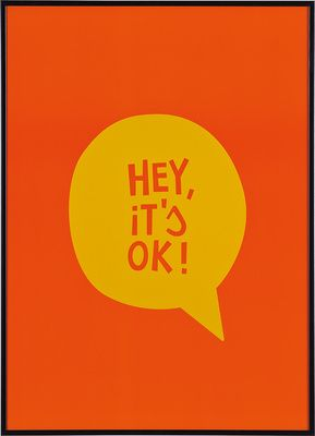 Grafika Hey, It's OK! - Obrazy i rzeźby - Artykuły Dekoracyjne - Meble VOX