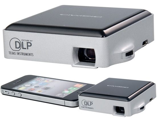 DIGIMIO I50D DLP Mini Projector for The new iPad, iPad 2, iPad, iPhone 4s, iPhone 4, iPhone 3gs (Black) - IP2748B
