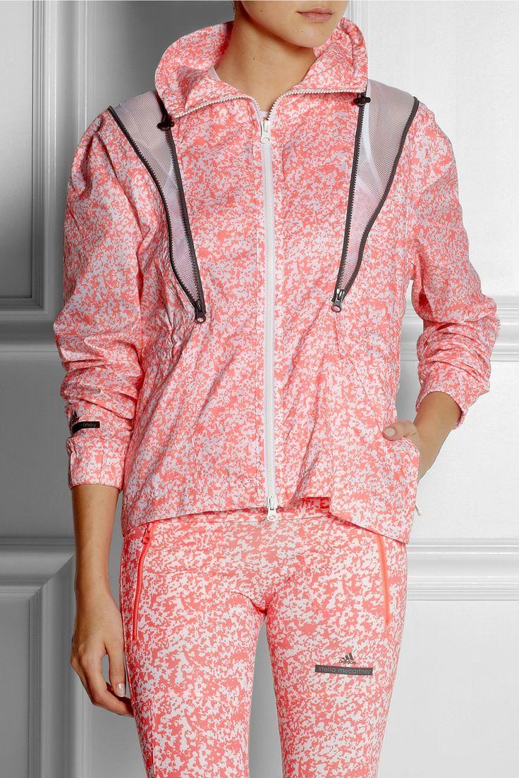 Adidas by Stella McCartney Run printed Climalite® shell jacket