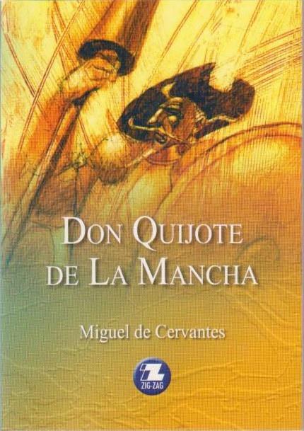 Este es el libro que ana tiene que leer para su clase de español por Miguel de Cervantes.