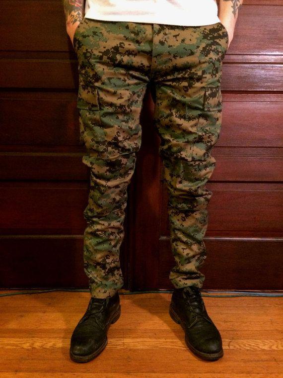 Custom Slim Tapered Authentic Marpat Camo Pants