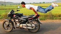 Is Motorcycle Yoga A Thing? :  Is Motorcycle Yoga a Thing?  Photos of lithe young people on social media displaying gymnastic moves on parked motorcycles have led many to question whether or not motorcycle yoga is really a thing. Which of course it is giv