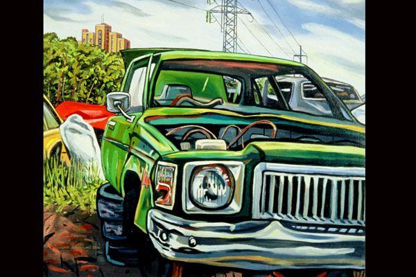 One of Stewart Macfarlane's auto inspired artworks