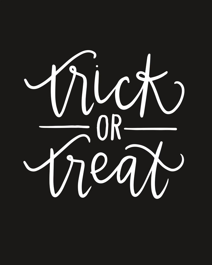 Hand lettered Halloween Poster Printables