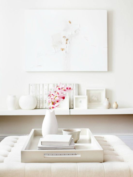 white white white. I love this white room, the little touch of pink as well.. just so relaxing ;)