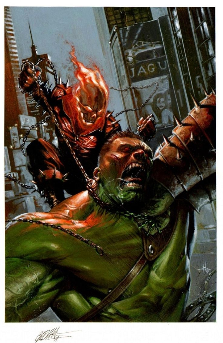Ghost Rider #12 - World War Hulk Crossover by Gabriele Dell'Otto Comic Art
