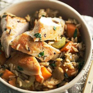 Chicken and Roasted Vegetable Rice From Better Homes and Gardens,