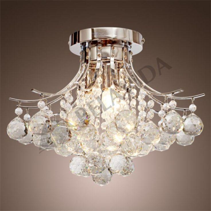 16x16x11h Crystal Chandelier Ceiling 3 Light Pendant