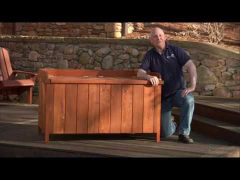 How to Build a Deck Storage Box Introduction - add waterproof liner to make it better to store cushions in.