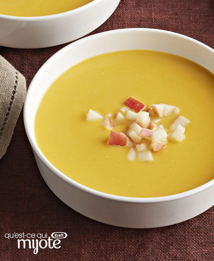 Soupe aux pommes à la courge et au cari #recette