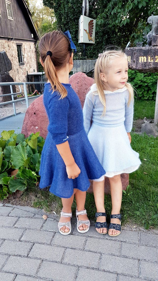 d3627829494 This knit mohair dress for a little girl is made from a luxurious