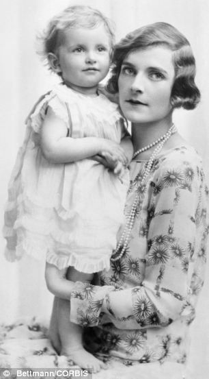 Edwina Mountbatten (pictured with first daughter Patricia) was one of the magnetic personalities of high society in Thirties London