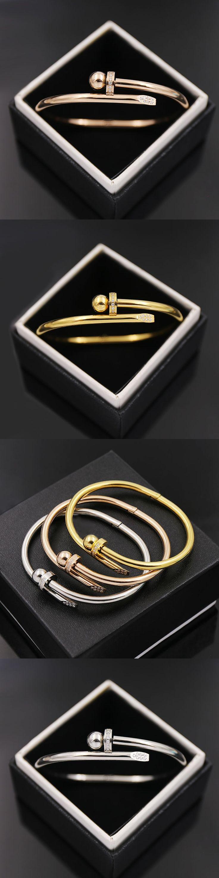 by bangle gold head nail oliver brandalley liv chloe embelished bracelet