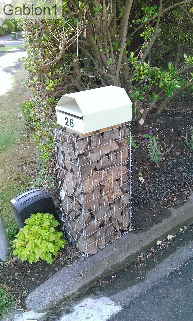 Ideal 24 best Mailbox images on Pinterest | Gardening, Gabion baskets  XI16