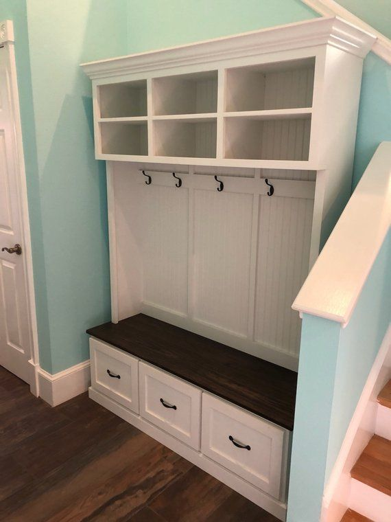 The Moraga 3 Section Mudroom Bench Storage Design Storage And