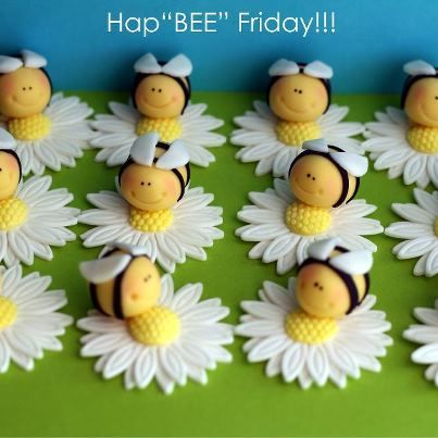 Daisies and bees...cute for cupcakes