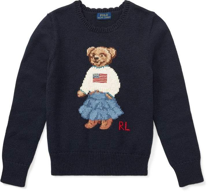 Polo Bear Cotton Sweater #sweater#Shell#cotton | Cotton