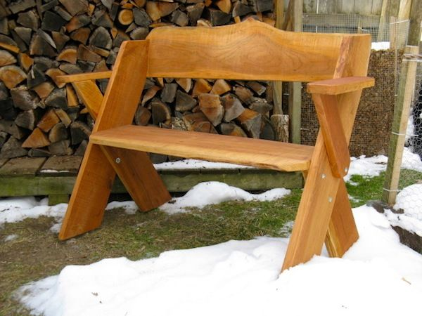 Leopold benches by Pleasant Lake Hardwoods