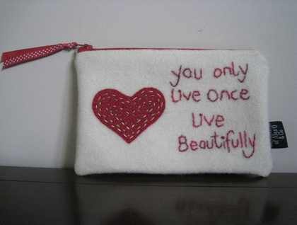"""""""You Only Live Once Live Beautifully"""" Purse or Pencil Case"""