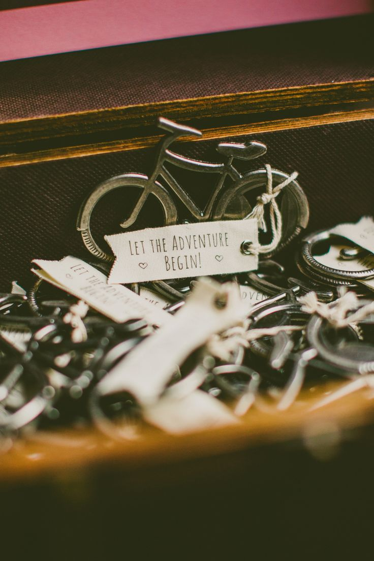 Bicycle Bottle Openers | Carolyn Scott Photography | Theknot.com