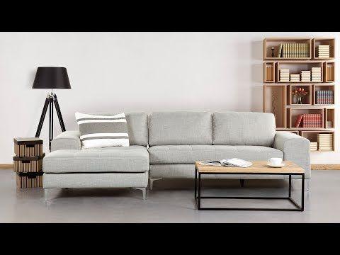Unique Sofa Hellgrau Couch Ecksofa Sofalandschaft Sofagarnitur Stoffsofa KIRUNA