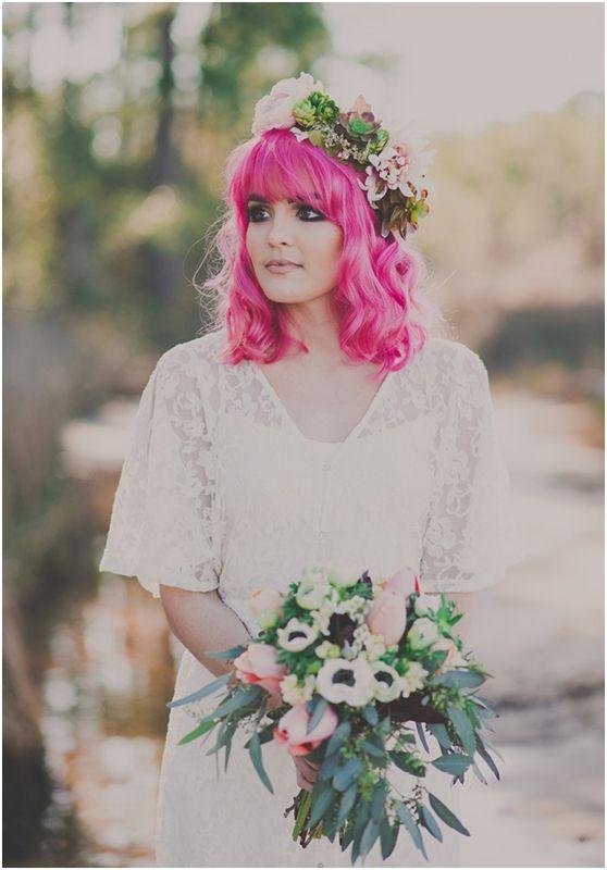 Extreme χρώματα μαλλιών για εντυπωσιακές νύφες!