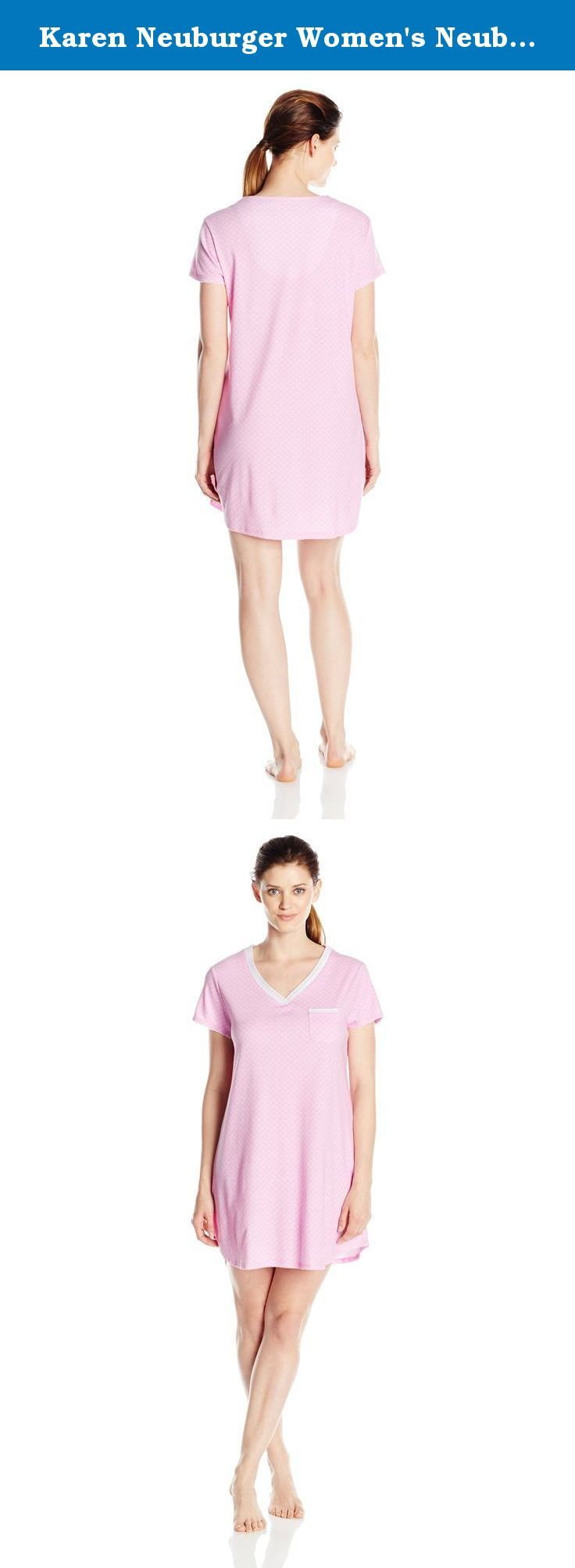 Karen Neuburger Women's Neuberger Short Sleeve Pullover Nightshirt, Me Dot/Pink, X-Large. You'll want to lounge around in these pajamas all day Karen Neuburger sleepwear starts with light weight, cozy fabric (it's the softest we could find) and an easy fit. Next we add unique details-such as an embroidered pocket or fun contrast piping-to make these pajamas simply your favorite. Karen Neuburger started the all-day sleepwear revolution by designing pajamas she wanted to stay in all day…