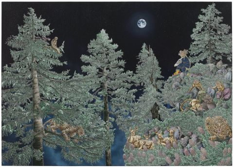 Ode to the lost moon when innocence was young - Raqib Shaw - 2009/2010 - 36575