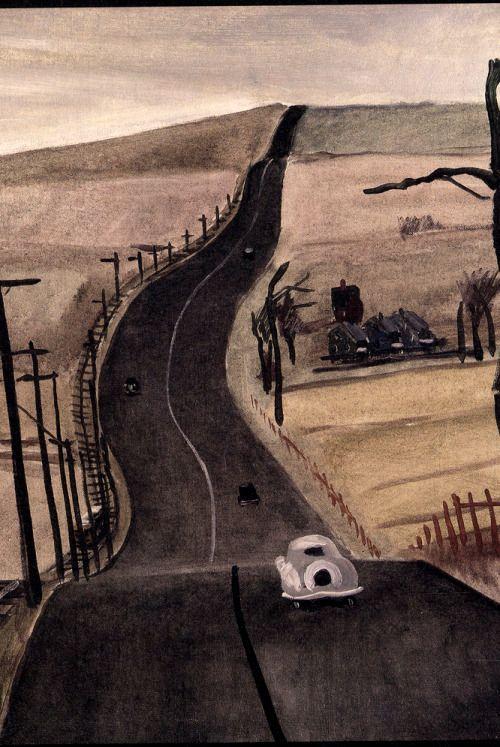 On the Motorway Mount Vernon / Aleksandr Deyneka, 1934