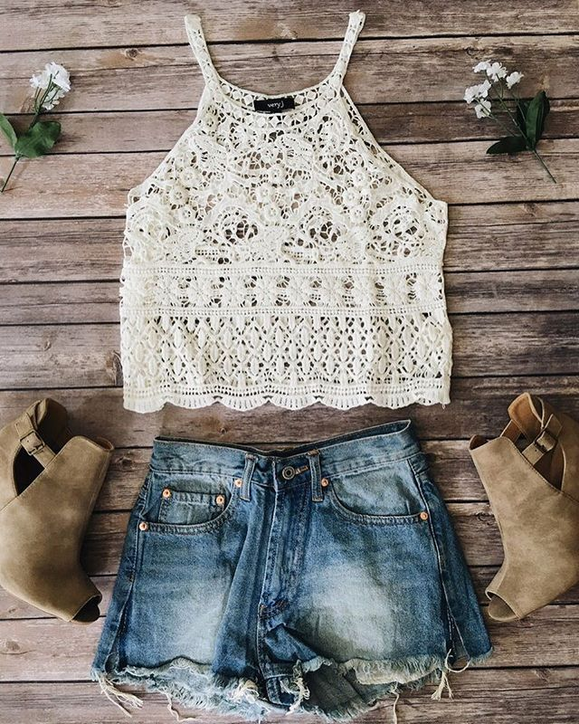 Limited stock Eliza crochet tank!  Link in bio to shop  shopdevi.com • #shopdevi