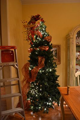 Kristen S Creations Decorating A Christmas Tree With Mesh Ribbon Tutorial Holidays