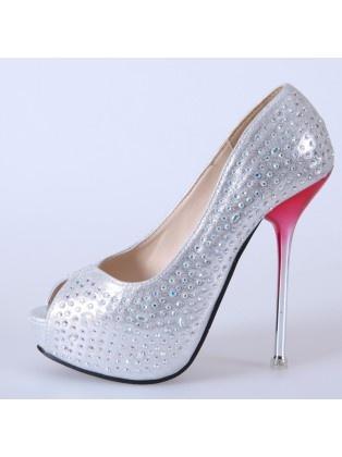Diamond Beaded Bridal Shoes