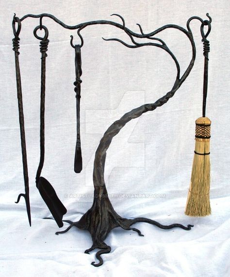 Made from mild steel. Forged, welded, ground, tweeked with torch. www.etsy.com/listing/188456211…