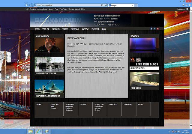 Hopontwerp: Ben van Duin website homepage
