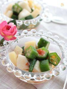 オクラ&長芋と筍のエスニックサラダ
