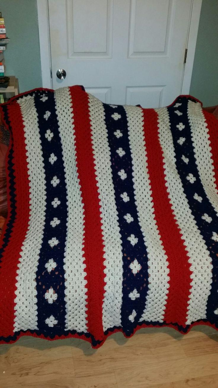 Perfect Amerikanische Flagge Häkeldecke Muster Ensign - Decke ...
