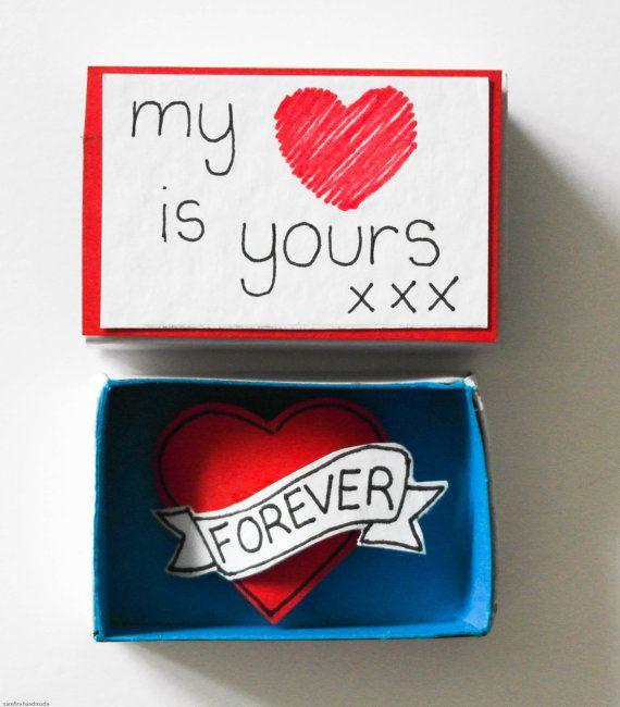 Süße Valentinstag Karte Valentine Matchbox Card Valentines Geschenk Freund  Oder Freundin Tiny Love Karte Matchbox Romantische Valentinstag Karte