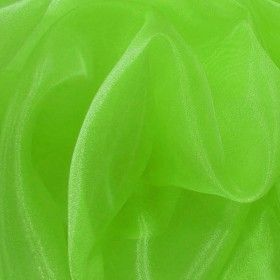Organza Stoff Fluor Lime
