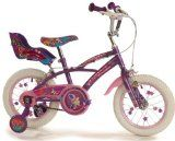 findathing247 Flutterby Girls Bike Flutterby 14 Girls Bike spoked wheels, colour coded rims with butterfly spokies, pump up tyres, rear dolly carrier, banjo style chainguard, patterned saddle, stabiliser (Barcode EAN = 0700285069999). http://www.comparestoreprices.co.uk/kids-bikes-