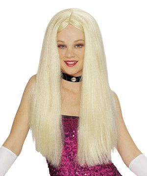 Another great find on #zulily! Blonde Long Parted Wig - Adult by Goddessey #zulilyfinds