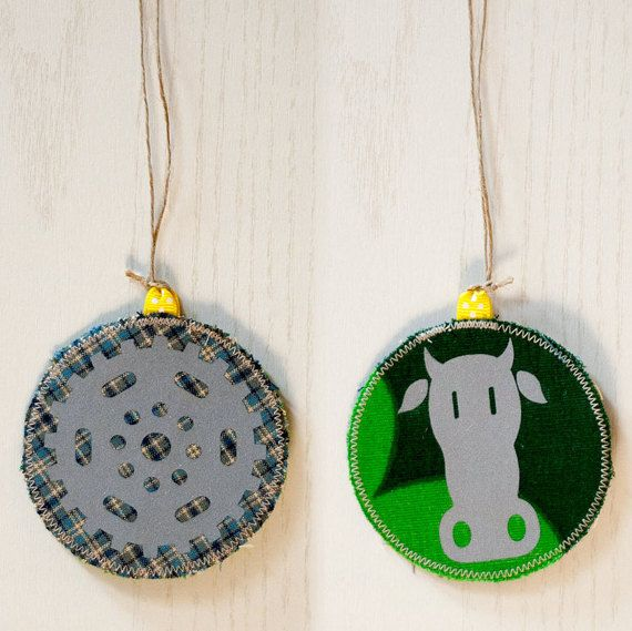 Safety Reflector: Cog & Cow, #Retro-reflector, Handmade in Norway.