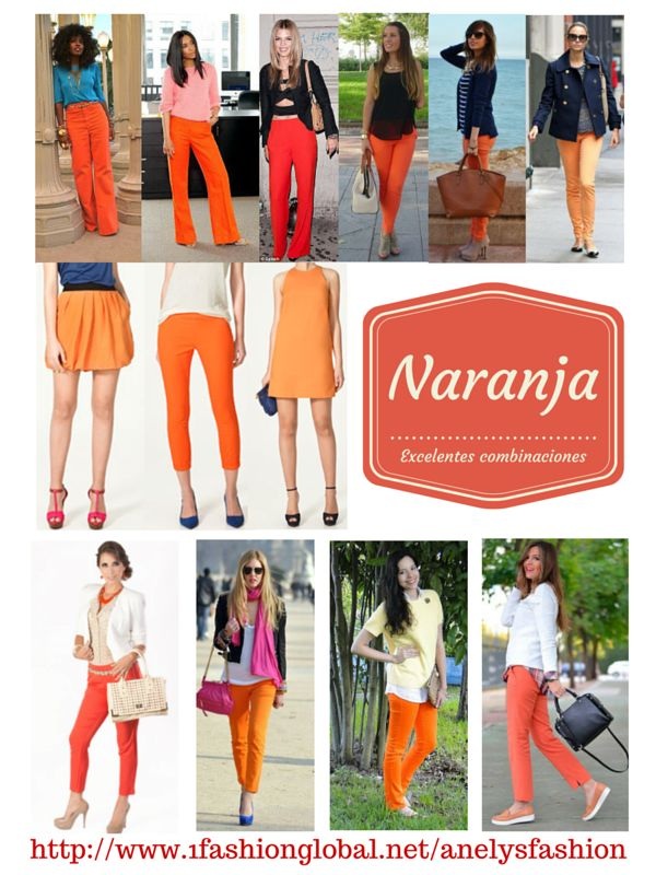 Fabulosas combinaciones en naranja tanto para la oficina como para tu dia casual.   Visita: http://www.1fashionglobal.net/anelysfashion