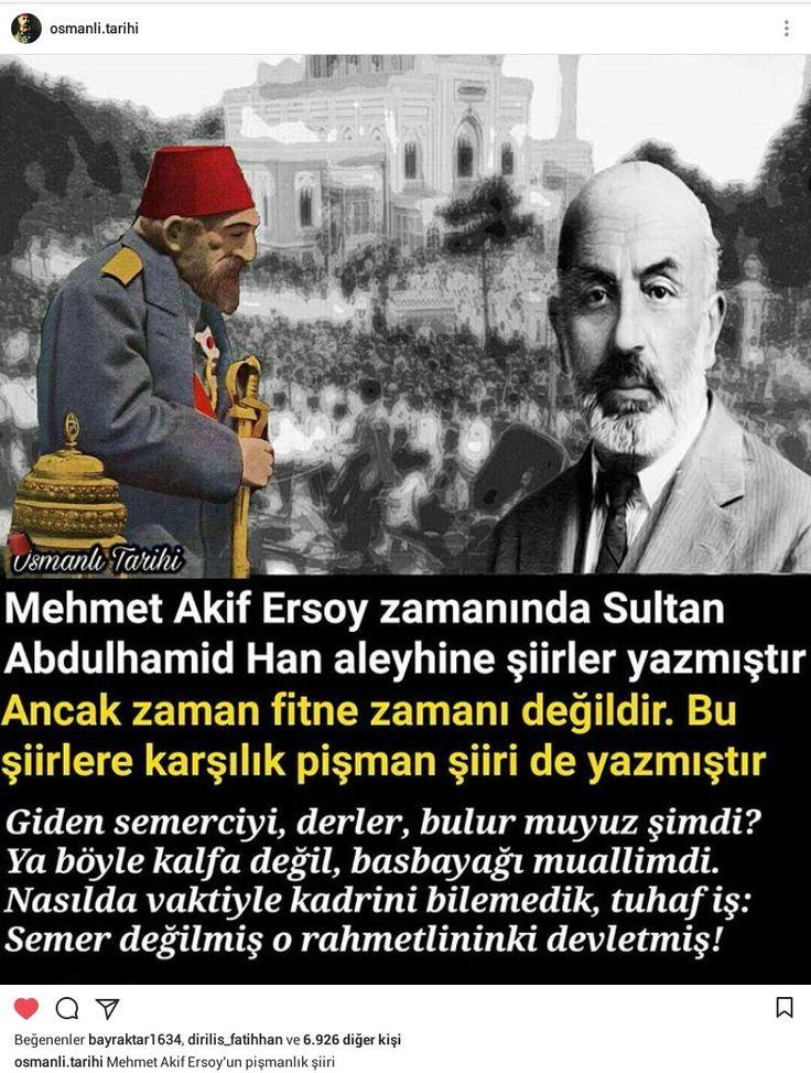 Pişmanlık şiiri  Mehmet Akif Ersoy